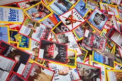 New York - MARCH 7, 2017: US magazines on March 7 in New York, U Royalty Free Stock Photos