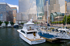 New York marina Stock Images