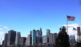 New York, Markierungsfahne von Amerika Stockbilder