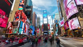 NEW YORK - MAY, 2018: Time Lapse of Times Square - New York 4K, UHD, Ultra HD resolution