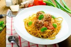 New York meatballs pasta Stock Images