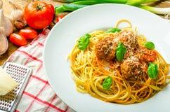 New York meatballs pasta Royalty Free Stock Photography