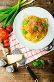 New York meatballs pasta Stock Photos