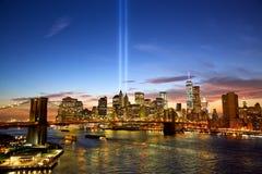 New York in memoria del dell'11 settembre Immagini Stock