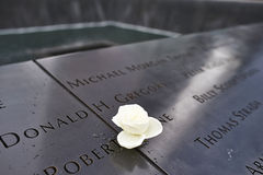 New York 9/11 Memorial at World Trade Center Ground Zero Stock Photography