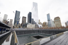 New York 9/11 Memorial at World Trade Center Ground Zero Stock Image