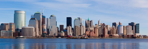 New York - mening van de horizon van Manhattan Stock Afbeelding