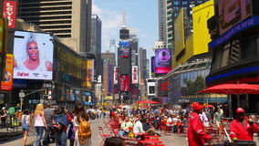 New York mest berömda turist- gånger för ställesommardag kvadrerar 4k USA lager videofilmer
