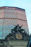 New York: MetLife Building and Grand Central Terminal on September 14, 2014 Royalty Free Stock Images