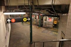 New York metro, USA. New York metro station. USA, December 2015 stock photo