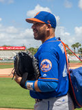 New York Mets Catcher Rene Rivera 2017. Rene Rivera is all smiles during a moment with fans during a spring training game in Florida for New York Mets royalty free stock images