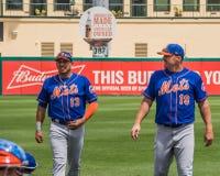 New York Mets 2017 de Jay Bruce & de Asdrubal Cabrera imagem de stock royalty free