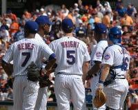 New York Mets. New York Mets, Jose Reyes, David Wright, Paul LoDuca, Tony Clark and manager Willie Randolph Stock Photos