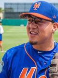 New York Mets MLB Wilmer Flores 2017. Wilmer Flores of New York Mets signing autographs before a spring training game in Florida 2017 royalty free stock images