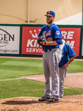 New York Mets Pitcher Zack Wheeler 2017. During a practice game in Spring Training royalty free stock images