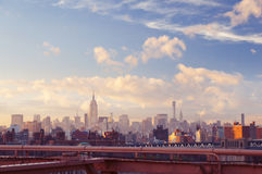 New York Midtown view on summer evening Royalty Free Stock Image