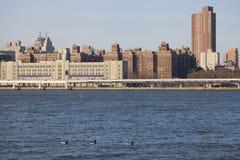 New York midtownhorisont. Arkivfoton