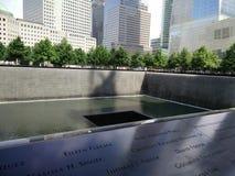 New York minnesmärke 11/09/2001 Arkivbild