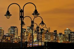 New York na noite Fotos de Stock Royalty Free