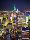 New York na noite imagem de stock