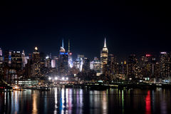 New York na noite foto de stock royalty free