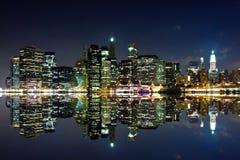 New York nachts Stockbild