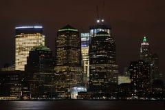 New York nachts Stockfotografie