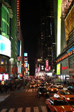 New York nachts lizenzfreie stockbilder