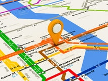 New York navigation subway map Royalty Free Stock Images