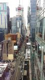 New York 42nd Street. From the 28th Floor high rise over looking 42nd street in New York City stock photos