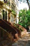 New York Neighborhood. The sidewalk in front of a New York neighborhood Stock Photo