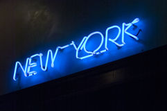 New York In Neon. New York City Neon Sign Royalty Free Stock Photo