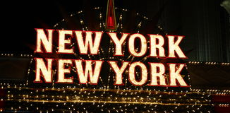New York Neon Sign. New York New YorK Lighted Sign royalty free stock photography