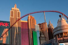 New York, New York casino. New York,New York casino in Las Vegas Nevada Royalty Free Stock Photography