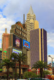 New York-New York Casino and Hotel  in Vegas. Las Vegas Nevada USA - JUN 9 2015: New York-New York Casino and Hotel architecture facade features many of the New Stock Images