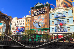 New York-New York Casino and Hotel  in Vegas. Las Vegas Nevada USA - JUN 9 2015: New York-New York Casino and Hotel architecture facade features many of the New Stock Photo