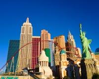 New York New York Casino in Las Vegas. Early morning sunlight brightens up the New York New York casino-hotel on the world famous Strip of Las Vegas, Nevada Stock Image