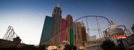 New York New York Casino at night Stock Photo