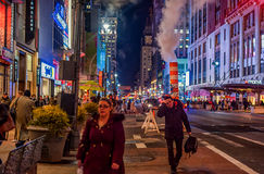 NEW YORK, NEW YORK - DECEMBER 31, 2013: New York Street Before New Years Eve. Stock Photo