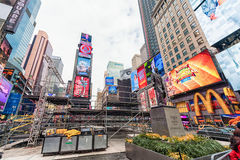 NEW YORK, NEW YORK - DECEMBER 27, 2013: New York Times-Vierkant onder de Bouw Royalty-vrije Stock Foto