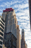 NEW YORK, NEW YORK - DECEMBER 27, 2013:  The New Yorker Hotel on 8th. Avenue built in 1929, famous for it`s Art Deco style buildin Royalty Free Stock Images