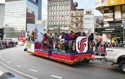 De Chinese Parade van het Nieuwjaar in NYC Stock Foto's