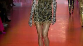 Models walk the runway for The Blonds during New York Fashion Week