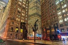 NEW YORK, NEW YORK - 10 GENNAIO 2014: Paesaggio urbano di New York Fotografia Stock