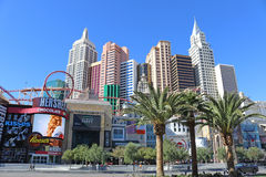 New York-New York Hotel. And casino in Las Vegas Stock Photography