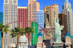 New York - New York hotel and casino, Las Vegas Nevada Stock Images