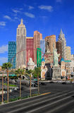 New York - New York hotel and casino, Las Vegas Nevada Stock Photos