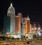 New York-New York Hotel & Casino in Las Vegas at night Royalty Free Stock Photos