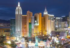 New York-New York Hotel and Casino, Las Vegas, NV, USA. New York-New York Hotel and Casino on Las Vegas Strip at night in Las Vegas, Nevada, USA. This Hotel is royalty free stock image