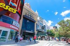 New York-New York Hotel and Casino, Las Vegas Strip in Paradise, Nevada, United States. Las Vegas, Nevada - May 28, 2018 : New York-New York Hotel and Casino Stock Image